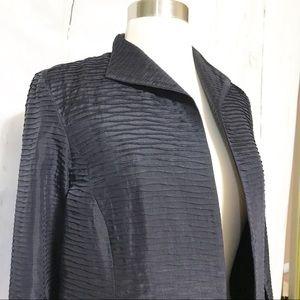Eileen Fisher 100% Silk Open Jacket Blazer